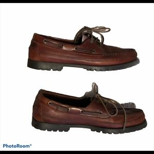 Sperry Brown Leather Boat Shoes 2 Eye Size 10.5